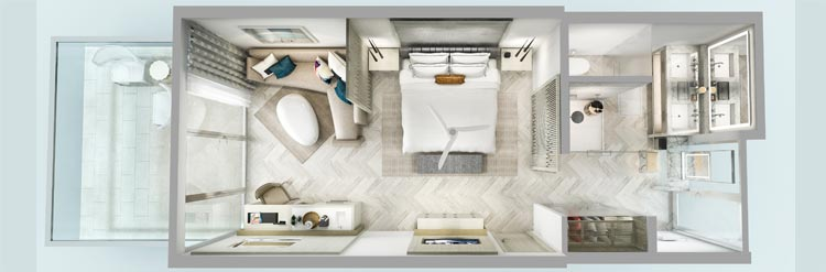 H2O Suites Luxury Second Floor Balcony Suite, Florida